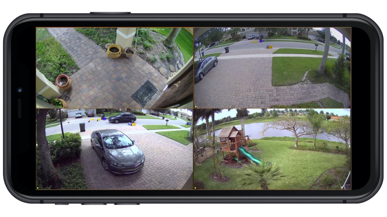 remote security camera view from iPhone App