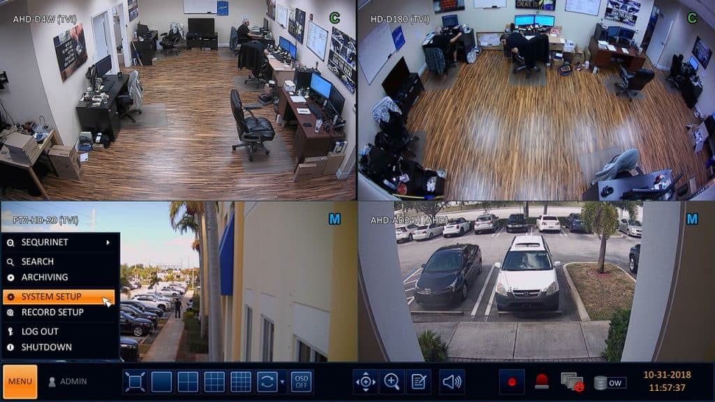 map alarm sensors to security cameras on DVR