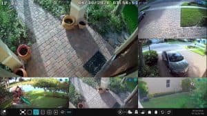 multiple security camera display
