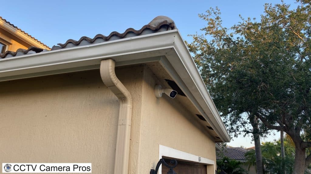outdoor home security camera install