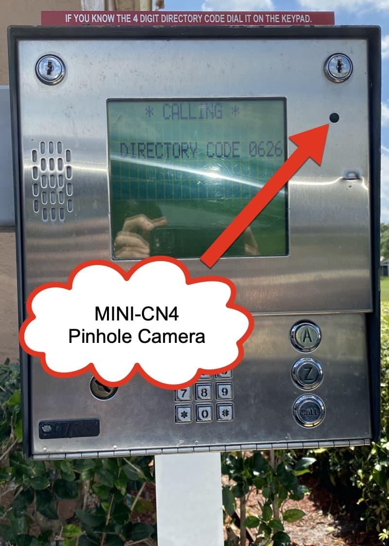 pinhole camera installation