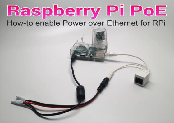 Raspberry Pi Power Over Ethernet