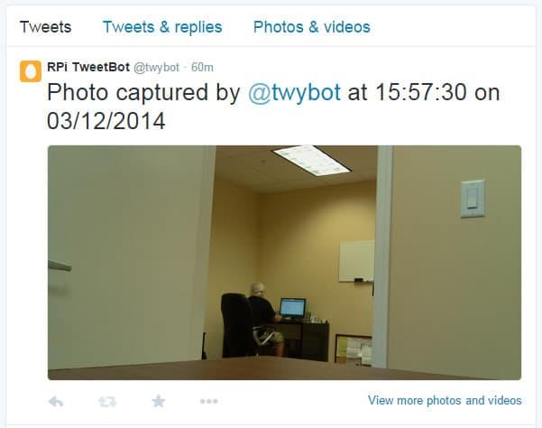 Raspberry Pi Tweet Picture