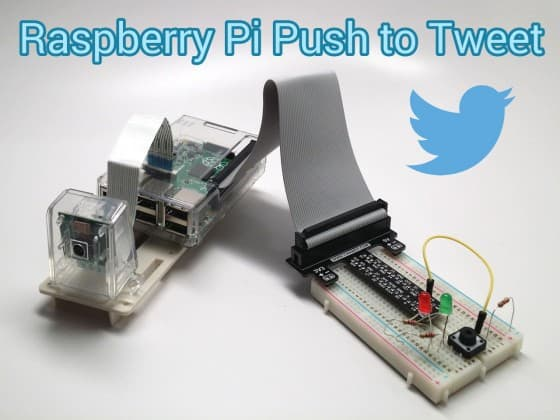 Raspberry Pi Twitter Project: Push Button, Camera Capture, Tweet Photo