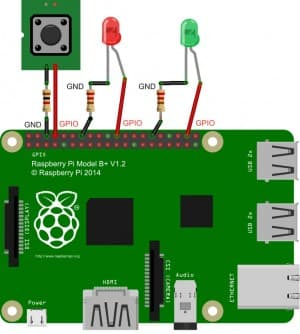 Raspberry Pi Twitter Project Wiring