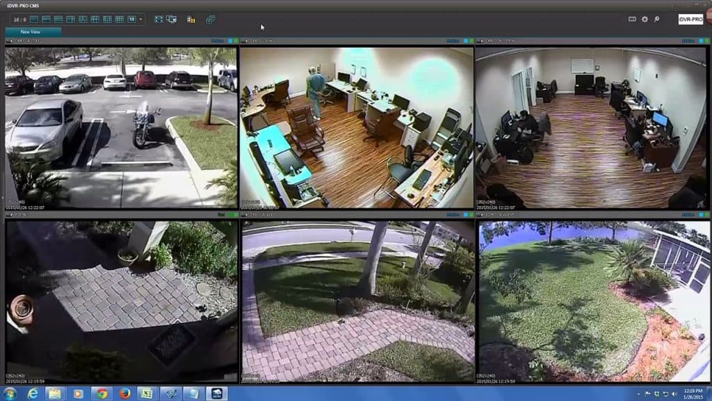 remote CCTV camera view multiple dvr locations