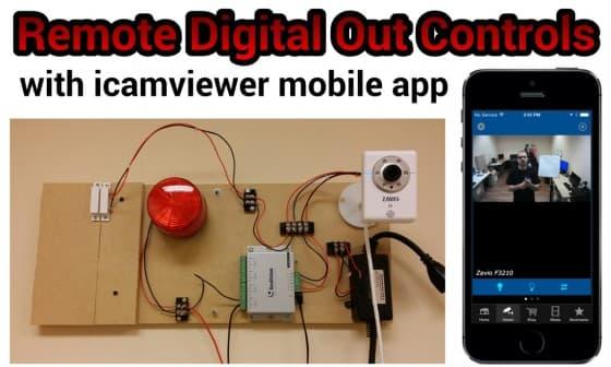 Remote Digital Input / Output Sensor Controls using iCamViewer Mobile App