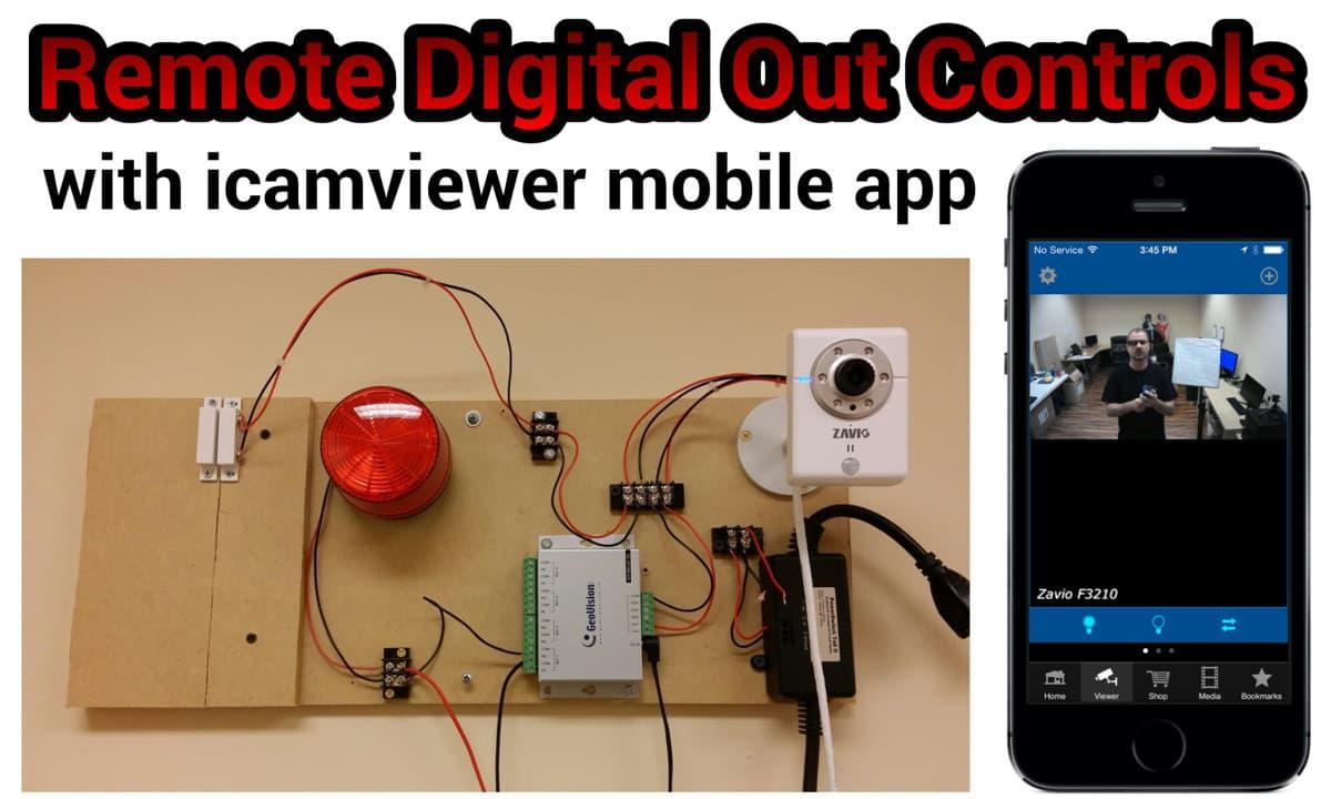 remote sensor controls mobile app