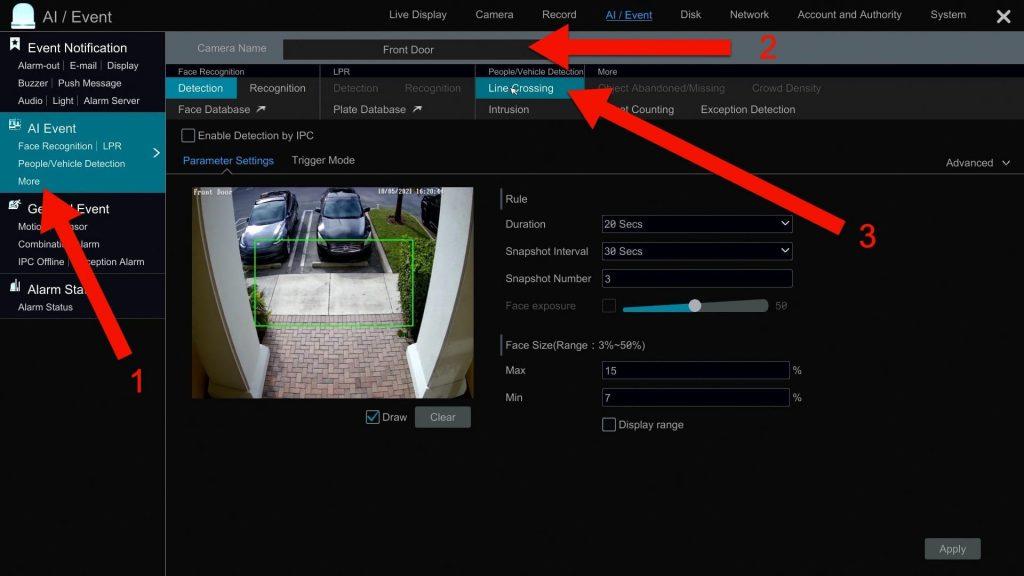 security camera AI software