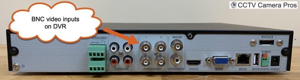 security camera DVR BNC