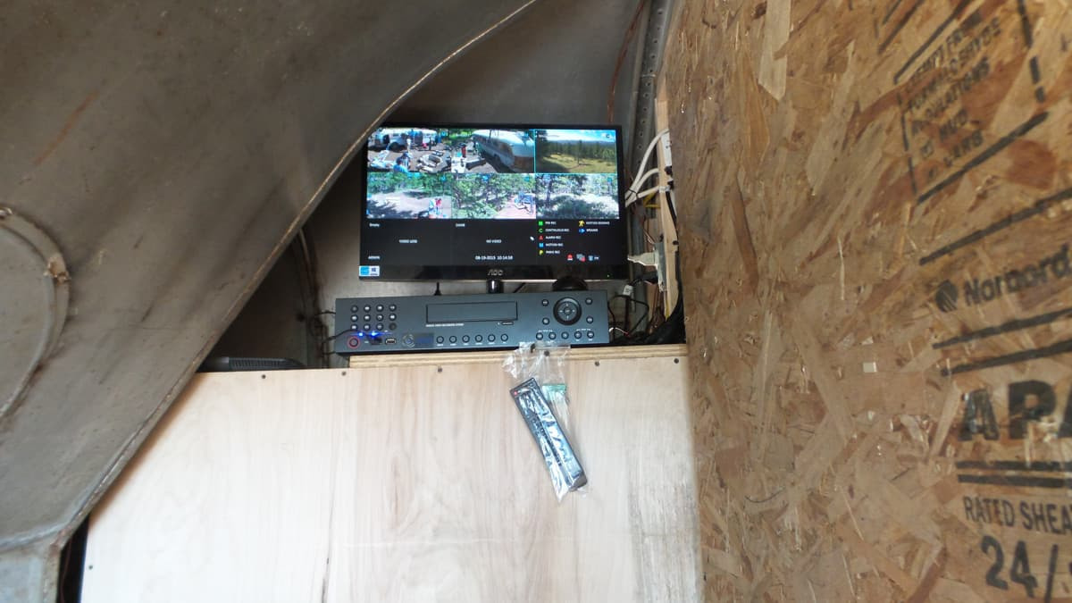 security camera DVR bus installation
