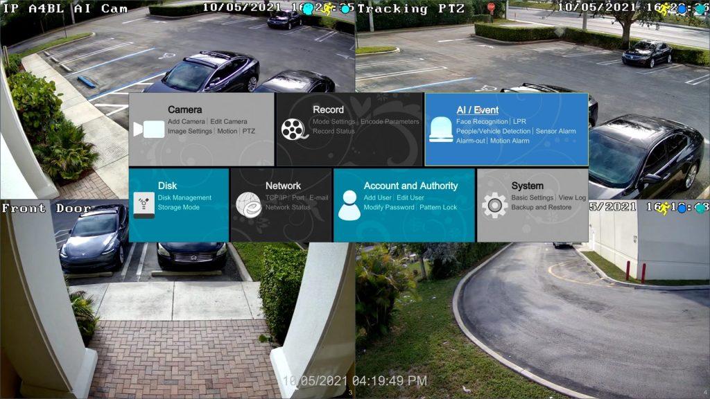 security camera DVR setup