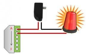 CCTV camera alarm relay output