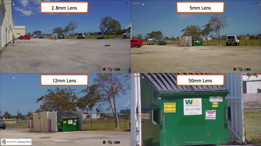 security camera lens comparison