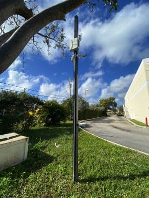 security camera pole installation