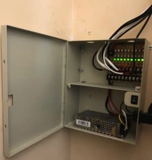 security camera power supply box