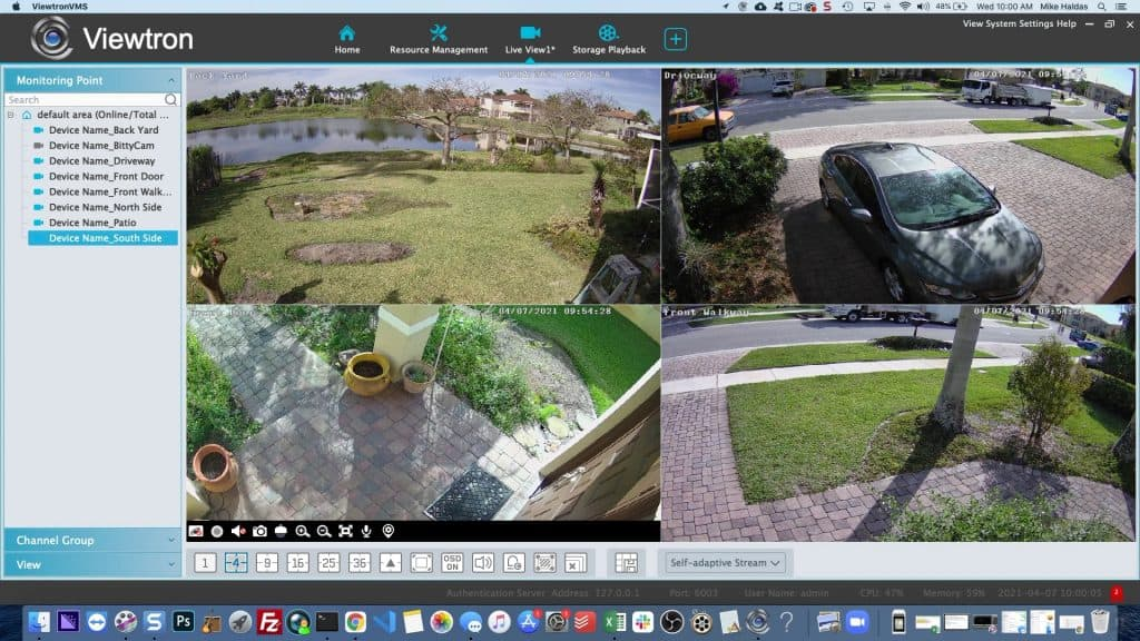 security camera software 4ch view