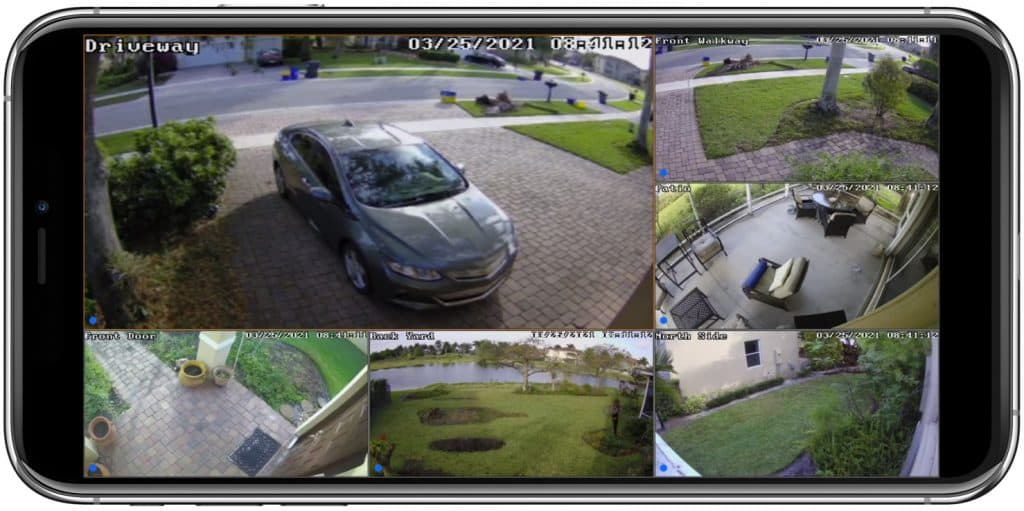 security camera system remote view