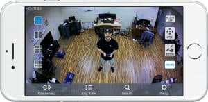 security camera view iPhone