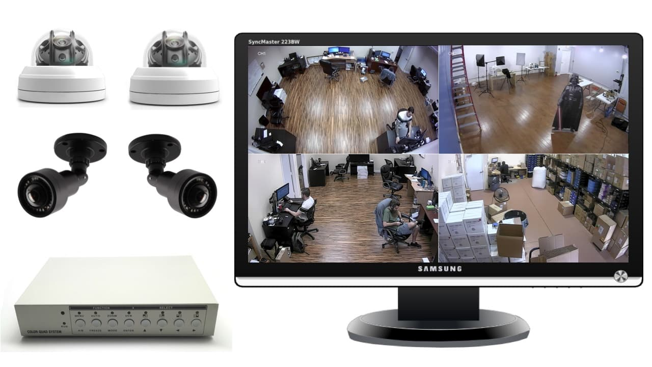 security camera with monitor