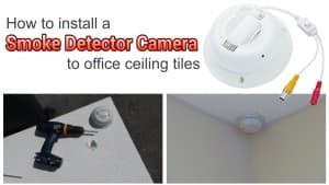 smoke detector hidden camera installation