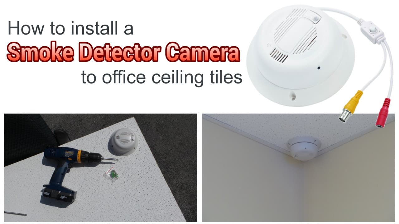 smoke detector hidden camera installation