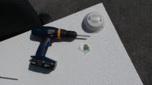 smoke detector security camera installation