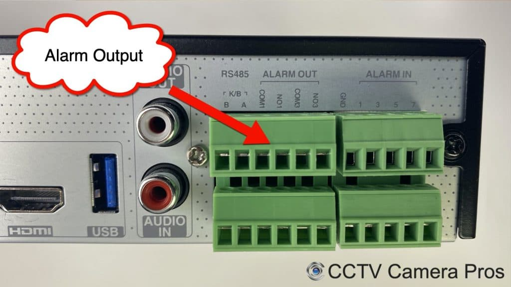 surveillance DVR Alarm Output