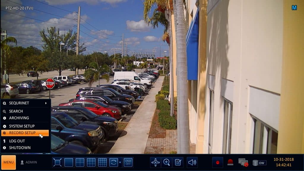 surveillance DVR alarm recording setup