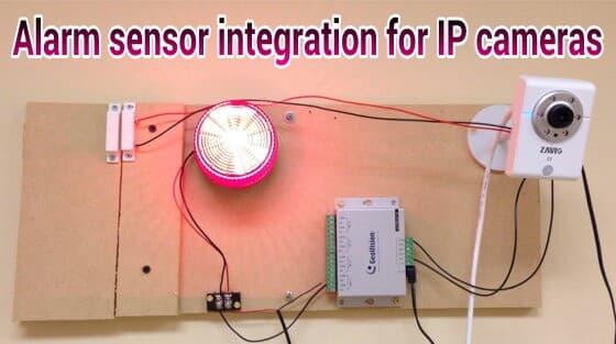 surveillance system alarm sensor integration