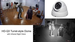 turret dome security camera with infrared night vision