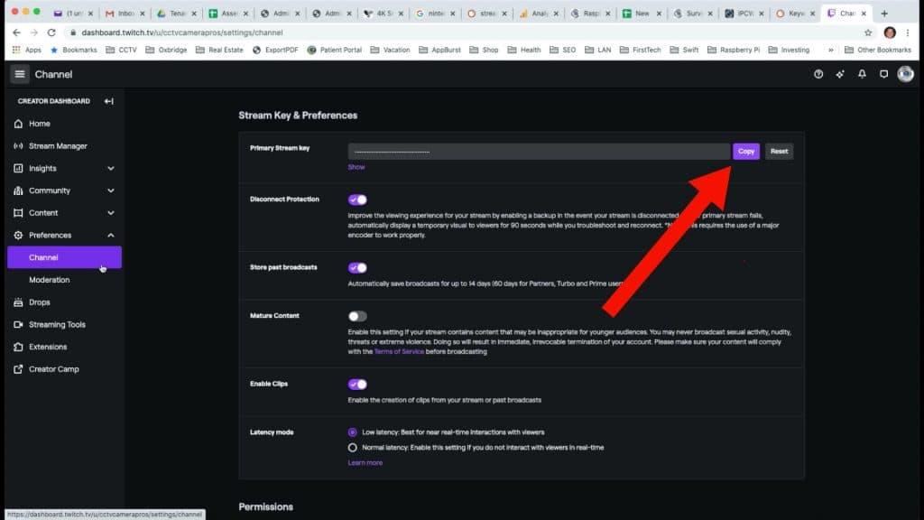 twitch stream key
