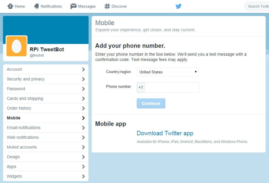 twitter python phone number