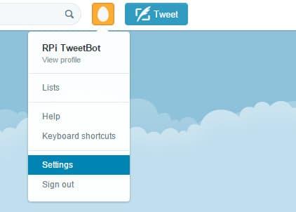 twitter raspberry pi project