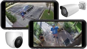 remote view security cameras installed at multiple locations