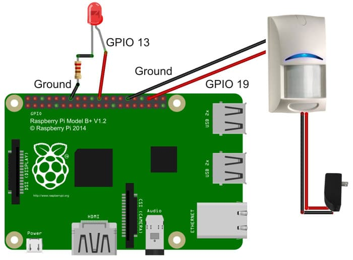 wire PIR motion sensor to Raspberry Pi