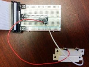 wire raspberry pi door sensor