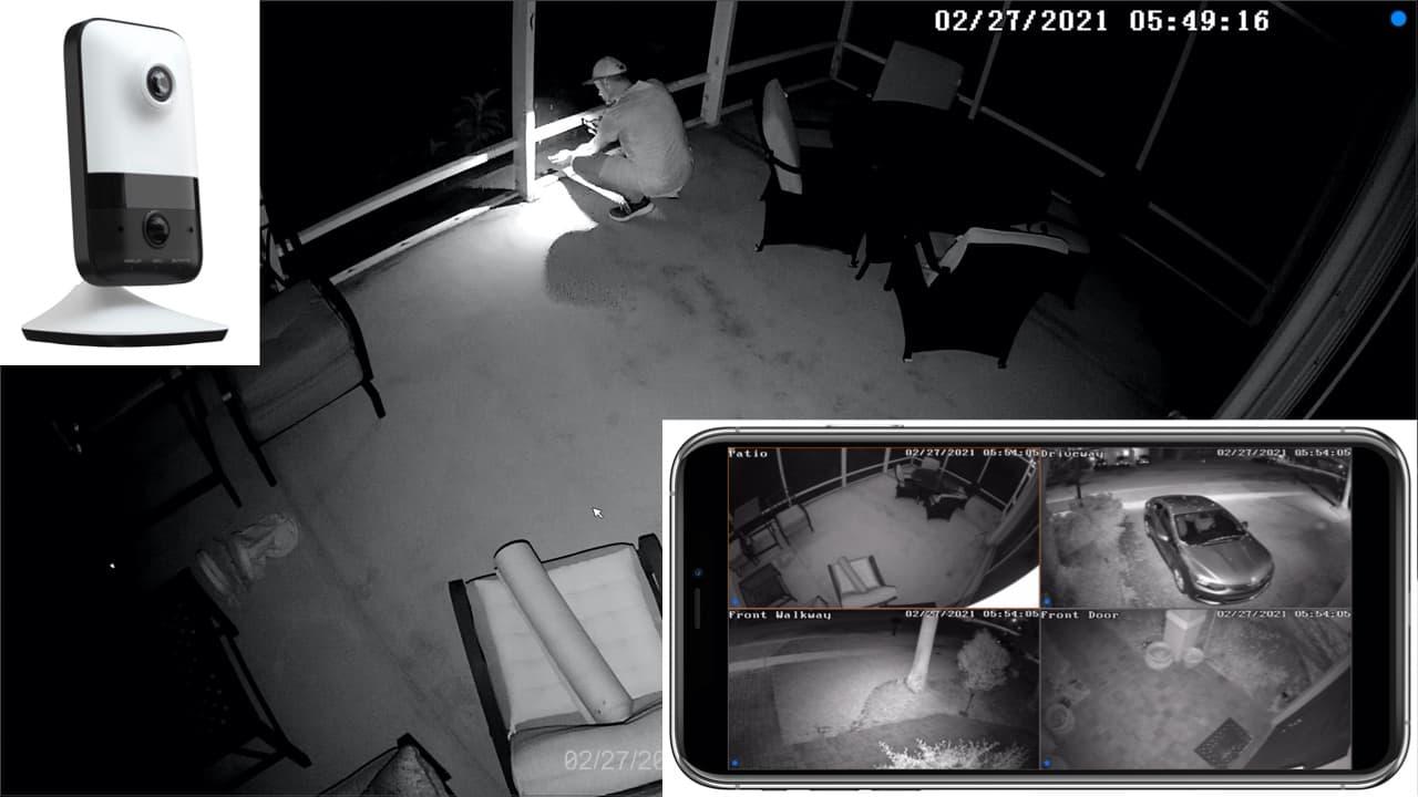 wireless home security camera IR
