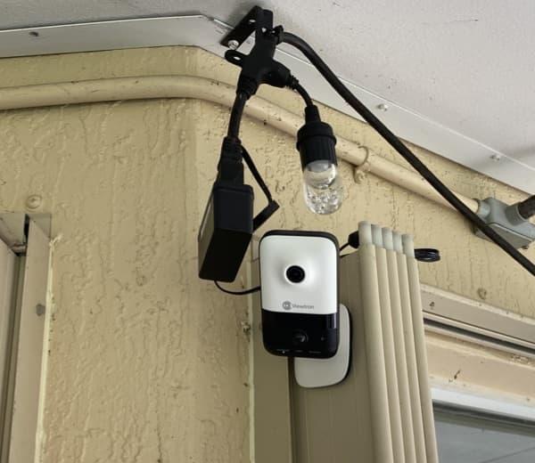wireless security camera installation